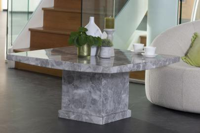 Prague Grey Marble Square Coffee Table