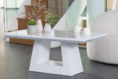 Urban Deco Milan White Marble Coffee Table