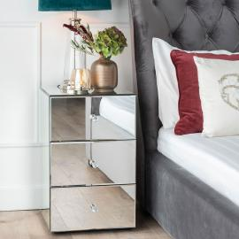 Vance Mirrored Bedside Cabinet