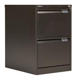 Bisley Double Filing Cabinet Black 2 Drawer - bs2e