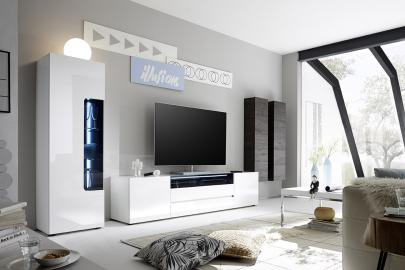 Vicenza 1 - white entertainment center