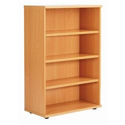 Octet Plus 1200mm Bookcase with 3 Shelves - Beech - ZFPBC1200BCH