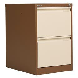 2 Drawer Foolscap Filing Cabinet Cream Bisley