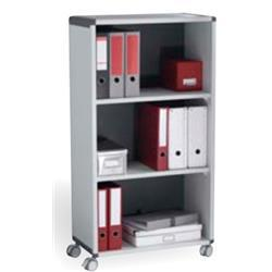 Fast Paper Mobile 3 Compartment Bookcase Grey/Charcoal - F381K211