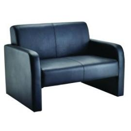 Arista Reception Sofa Flat Pack Leather Look Black KF72152