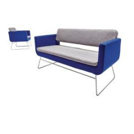 Avior Single 3 Seat Sofa Grey and Blue KF74641