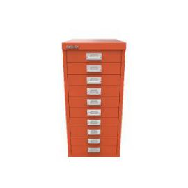 Bisley 10 Drawer Cabinet Mandarin BY78746
