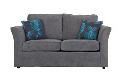 Buoyant Newry Sofa Bed, 2 Seater Sofa Bed with Standard Mattress, Avalon Chocolate, Grace Pewter