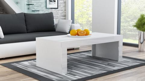 Milano - coffee table white narrow coffee table