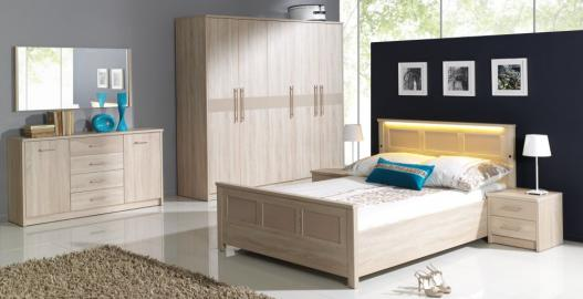 Cremona 2 - oak sonoma bedroom set