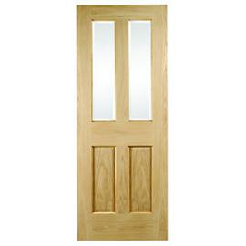 Wickes Cobham Glazed Oak 4 Panel Internal Door - 1981mm x 686mm