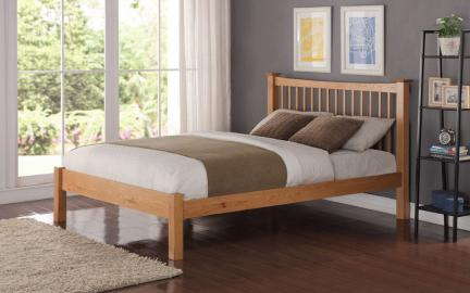 Flintshire Aston Wooden Oak Bed, Single