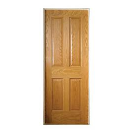 Wickes Cobham Oak 4 Panel Pre Finished Internal Door - 1981mm x 686mm