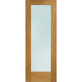 XL Pattern 10 External Oak Left Handed Fully Finished Door Set 2067 x 850mm