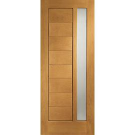 XL Modena External Oak Right Handed Fully Finished Door Set 2067 x 926mm