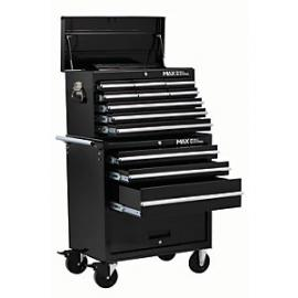 Hilka Professional 12 Drawer Tool Chest Combination Set - Black