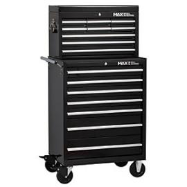 Hilka Professional 16 Drawer Tool Chest and Trolley Combination Unit - Black