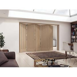 Jeld-Wen York Oak 3 Panel Internal Bi-Fold 5 Door Set - 2047mm x 3158mm