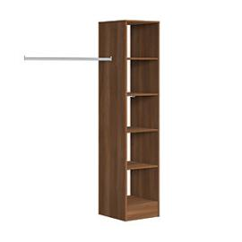 Spacepro Wardrobe Storage Kit  Tower Unit Walnut - 450mm