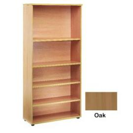 Jemini 4 Shelf Oak 2000mm Bookcase KF838419