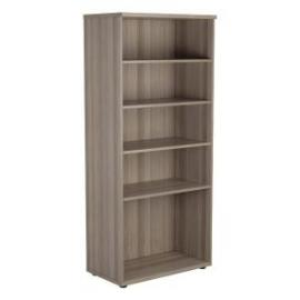 Jemini Grey Oak 1800mm 4 Shelf Bookcase Dimensions W800 x D450 x