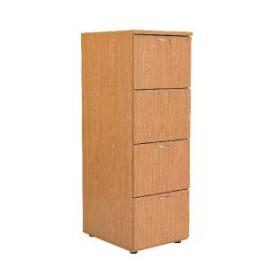 Jemini Oak 4 Drawer Filing Cabinet KF71959