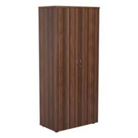 Jemini Walnut 1800mm 4 Shelf Cupboard KF840153