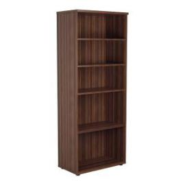 Jemini Walnut 2000mm 4 Shelf Bookcase KF840149