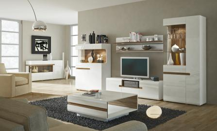 Linate 2 - white entertainment center cabinet