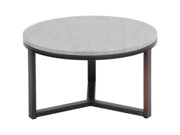 Massa Pale Grey Carrara Marble Coffee Table - Small