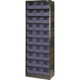 Metal Bin Cupboard With 30 Polypropylene Bins Dark Grey Black 371834