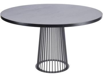 Noire Black Ash Round Dining Table