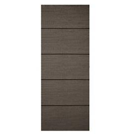 Wickes Milan Charcoal Grey Real Wood 5 Panel Internal Door - 1981mm x 686mm