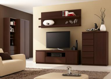 Pello 2 - brown entertainment center for 70 inch tv
