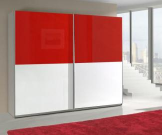 Presta red 3 - red and white free standing wardrobe