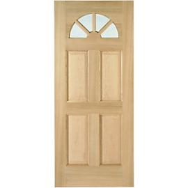 Wickes Carolina External Oak Door Glazed 4 Panel 2032 x 813mm