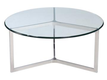 Shefford Stainless Steel and Glass Coffee Table