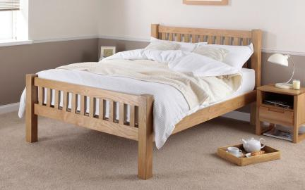 Silentnight Ayton Solid Oak Wooden Bed Frame, Double