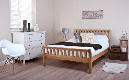Silentnight Lancaster Oak Bed Frame, Double
