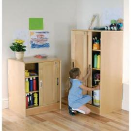 Small Cupboard with Sliding Doors
