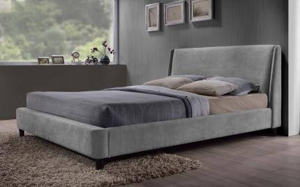 Time Living Edburgh Fabric Bed, Double, Grey