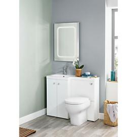 Wickes White L-Shaped Vanity Unit & Basin (LH)