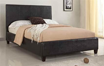 Modus Furniture 2X08F7 Mambo Upholstered Platform Bed, King, Chocolate