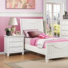 Homelegance Alyssa 2 Piece Kids' Panel Bedroom Set in White