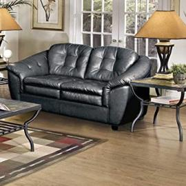 Loveseat Fabric: Stetson Black