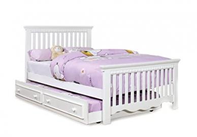Furniture of America Elliot 2-Piece Cottage Style Twin Size Bed Frame with Trundle, White