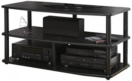PLATEAU SE-V3 42 BB Wood and Metal TV Stand, 42-Inch, Black Oak Finish