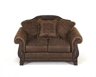 Bradington Brown Microfiber Loveseat