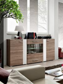 SB Akron - Truffle oak sideboard with 2 doors