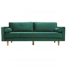 Divano design a 3-4 posti in velluto Midnight verde IMPERIAL